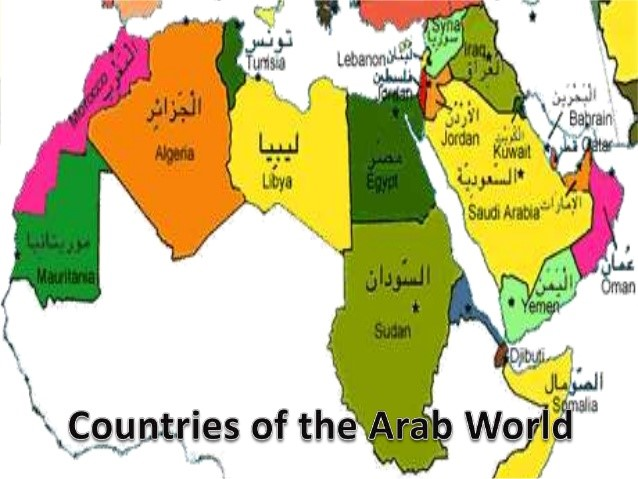 Arabic department of languages and culture studies unc charlotte countries of the arab world map gumiabroncs Choice Image