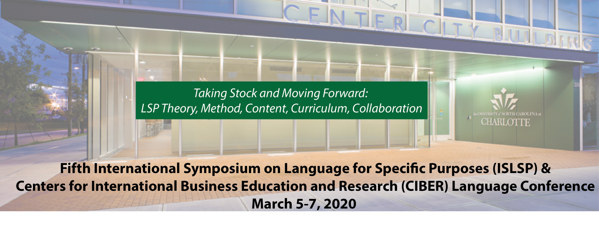 Uncc Academic Calendar 2020 5th ISLSP   CIBER Language Conference 2020 | Department of